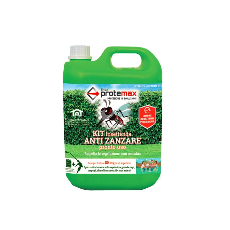 Protemax KIT Insetticida Antizanzare Pronto Uso - 2 litri