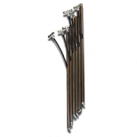 Kit picchetti in acciaio Inox con tubo 82 cm per Zhalt