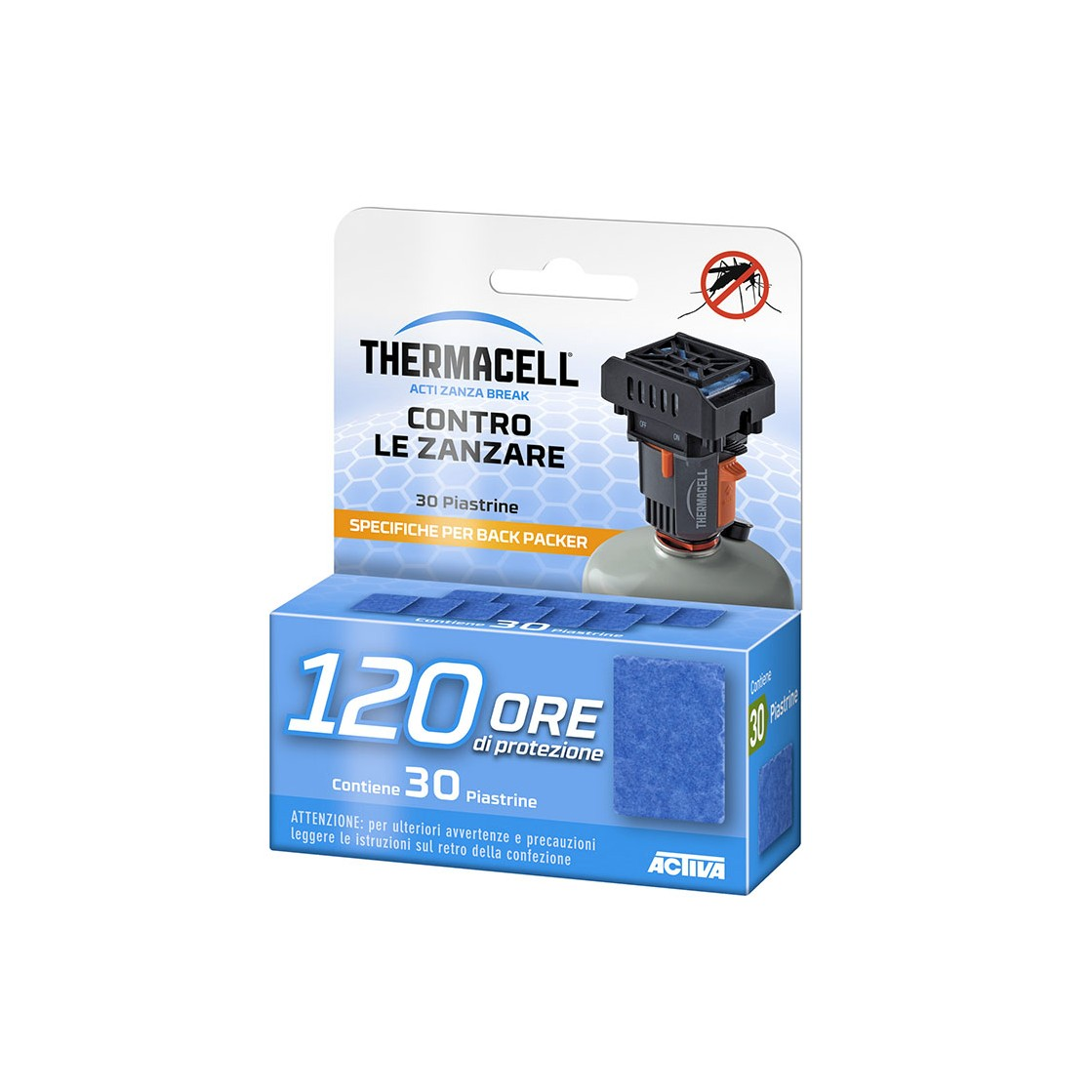 Thermacell ricarica 120 Ore Piastrine Backpacker