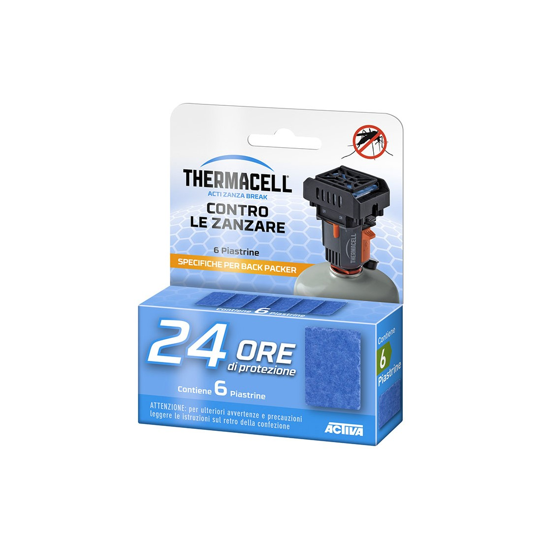 ThermaCELL Ricarica 24 Ore Piastrine Backpacker