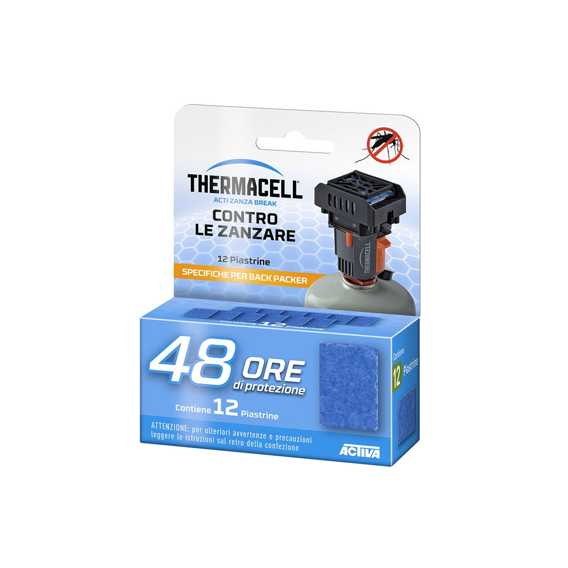 ThermaCELL Ricarica 48 Ore Piastrine Backpacker