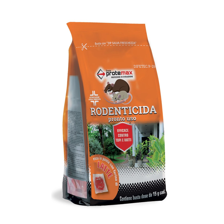 Protemax Rodenticida Pasta Df Rosso Con Farina Di Latte E Zucchero Busta 150 gr